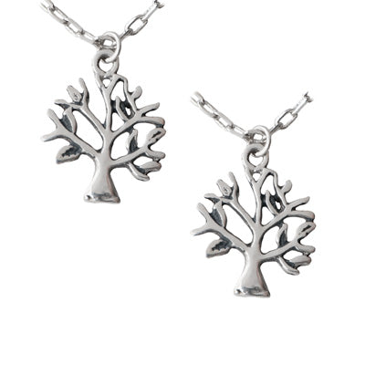 Mom and Daughter Tree Pendant Set