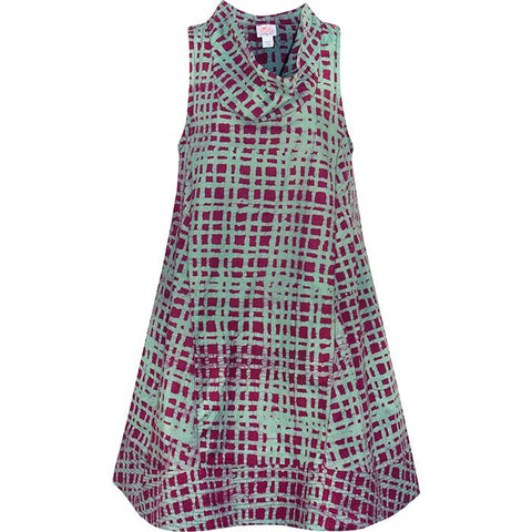 Eli Dress Plaid Wine