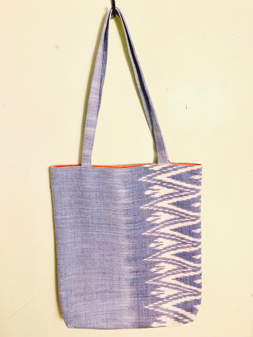 Savannah Ikat Tote Sky Blue