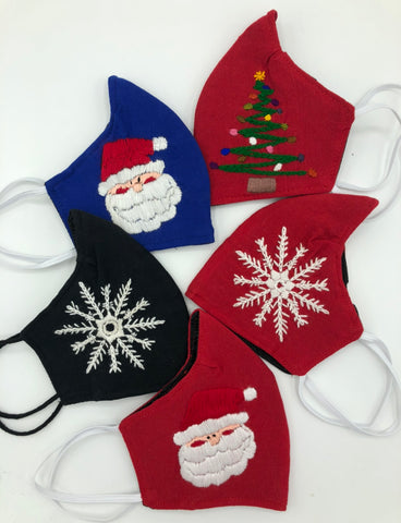 Holiday Duckbill Embroidered Face Mask