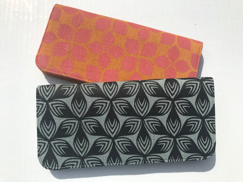 Cotton Screen Print Wallet - Florals