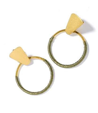 Kaia Earrings Olive Hoop