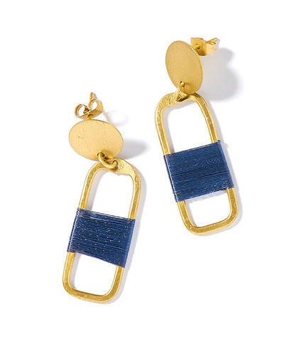 Kaia Earrings Navy Link