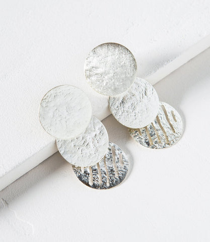 Nihira Silver Coin Earrings