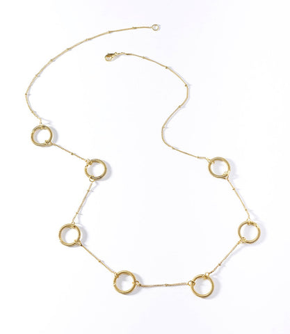 Kaia Gold Rings Necklace