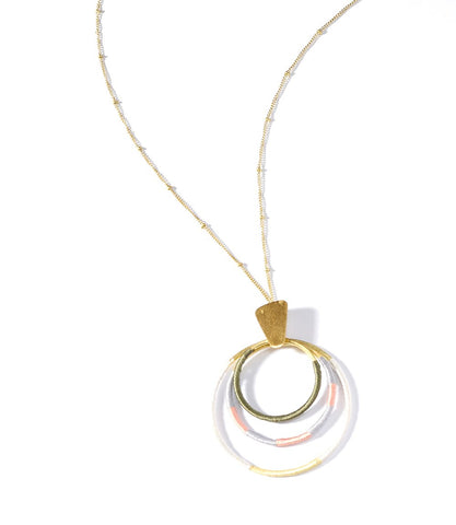 Kaia Dawn Hoops Necklace