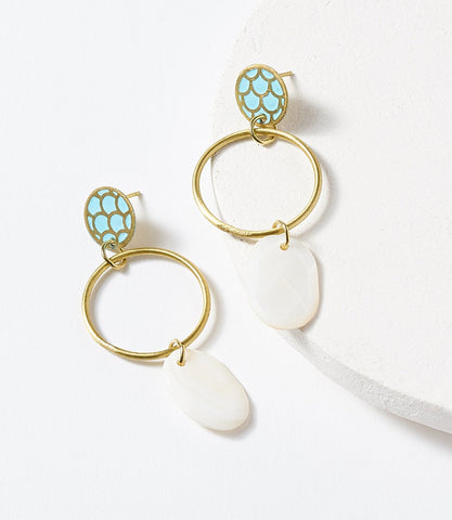 Dhavala Teal Drop Earrings