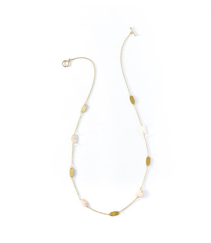 Dhavala Necklace Pearl Coin