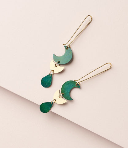 Rajani Earrings Teal Drop