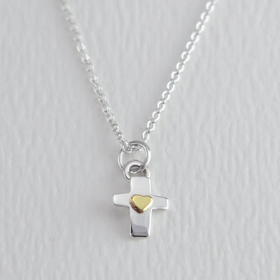 Cross w/ Heart Pendant