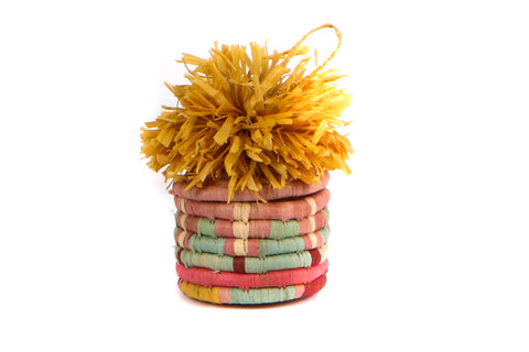 Pom Pom Basket Ornaments