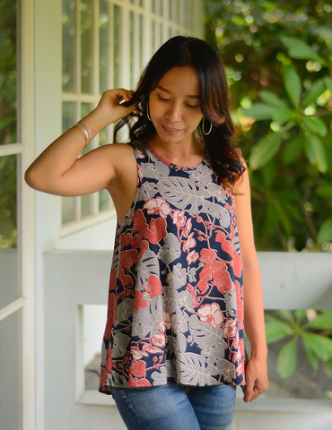 Swing Top Orchid Coral Navy