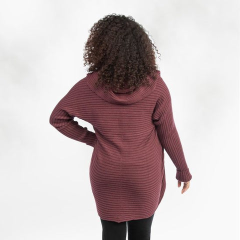 Ribbed Circle Sweater Mulberry