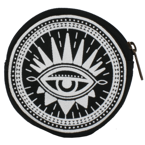 Coin Purse Round - Evil Eye