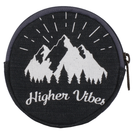 Coin Purse Round - Higher Vibes