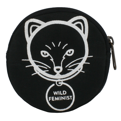 Coin Purse Round - Cat Feminist