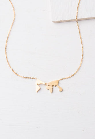 Eliana Gold World Necklace