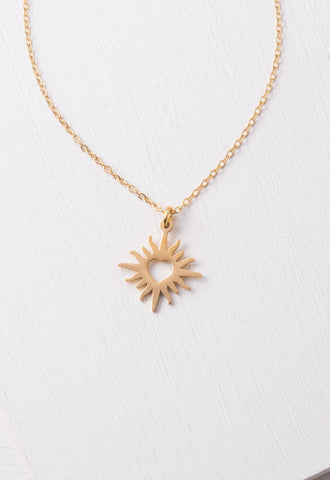 Teagan Gold Heart Pendant Necklace