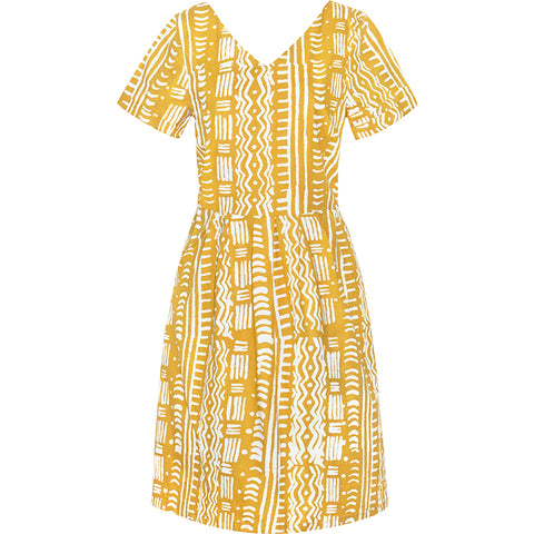 Verona Dress Mustard Pathways