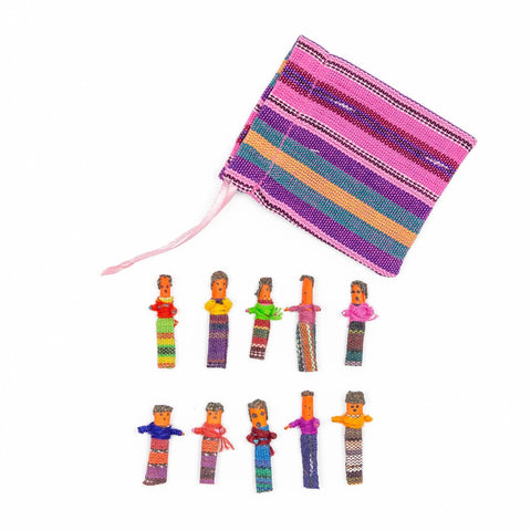 Worry Doll Pouch Set of 10