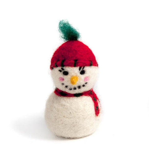 Wool Snowman Ornament
