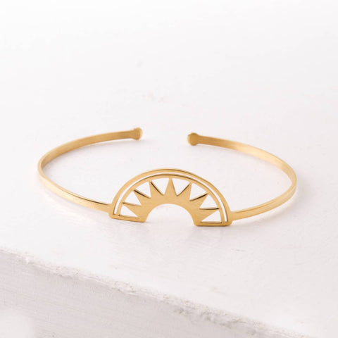 Dawn Gold Half-Moon Bracelet