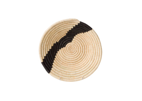Striped Black & Natural Medium Bowl