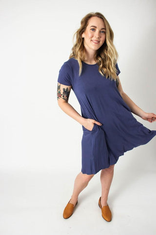 Blueberry Swing Dress