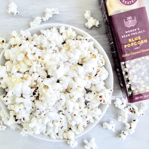 Blue Popcorn with Salted Caramel Seasoning
