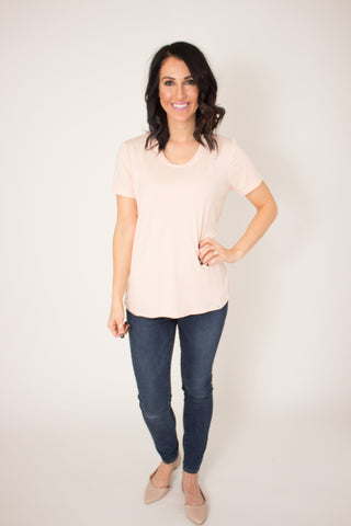 Blush Scoop Tee