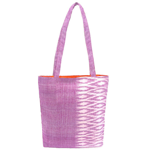 Savannah Ikat Tote Rose