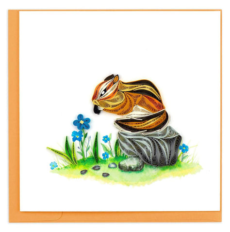 Quilled Chipmunk Card