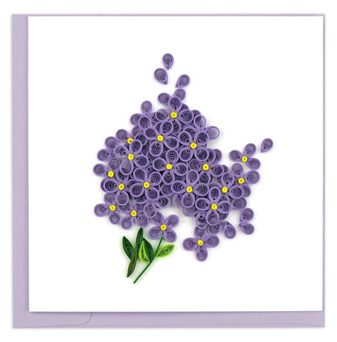 Quilled Lilac Flower Card