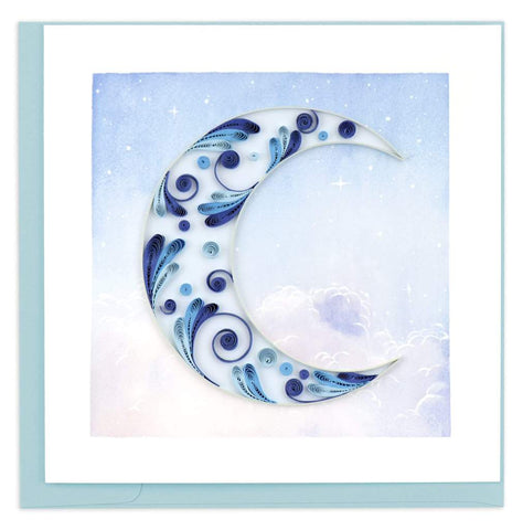 Quilled Crescent Moon Greeting Card