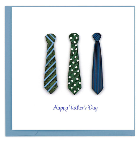 Quilled Father's Day Ties Card