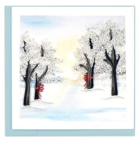 Quilled Snow Covered Trees Card