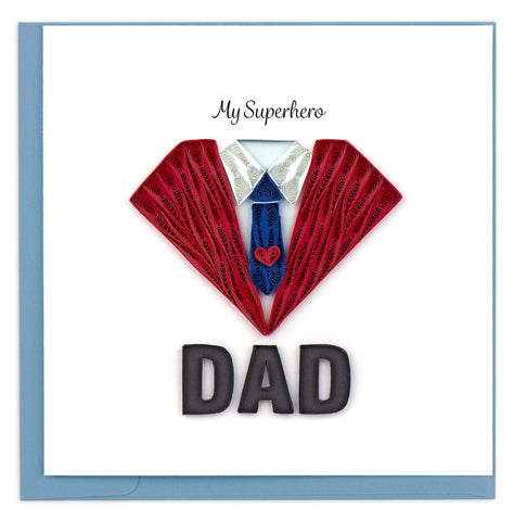Quilled Superhero Dad Card