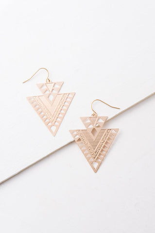Cici Gold Geometric Dangle Earrings