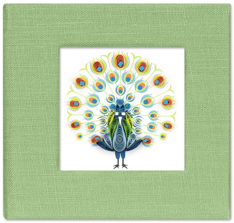 Dancing Peacock Sticky Notebook Cover