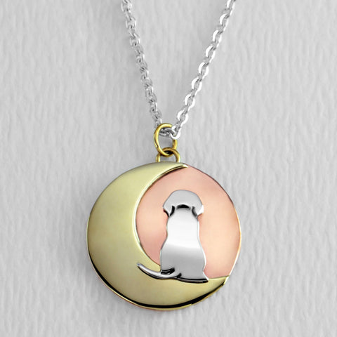 Moonbeam Puppy Necklace