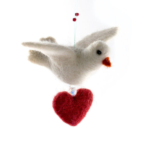 Wool Dove of Love Ornament