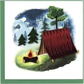 Quilled Camping Card