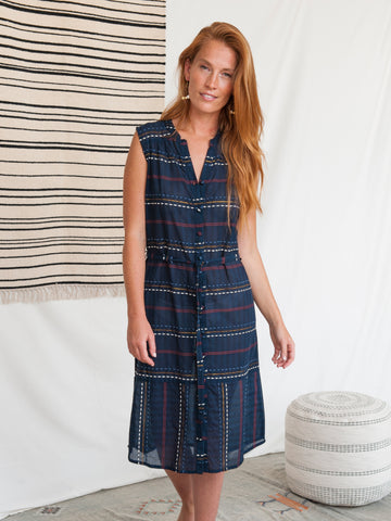 Soho Shirtdress Multi Stitch