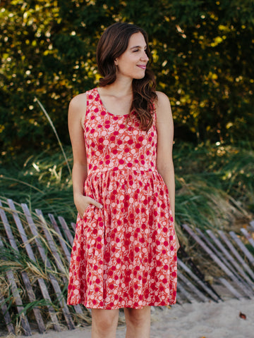 Summer Sonnet Dress Peach