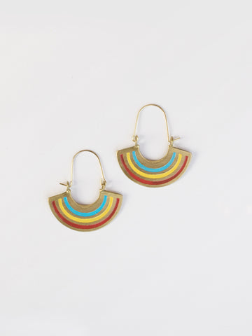 Petite Rainbow Earrings Gold