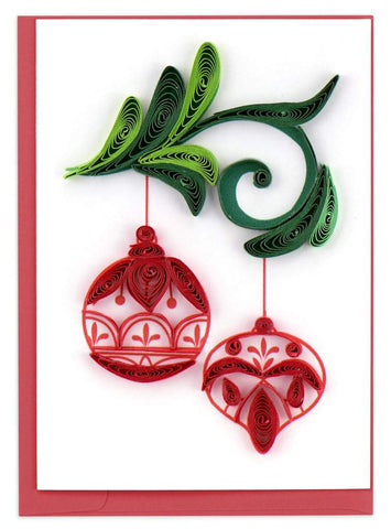 Quilled Red Ornaments Gift Enclosure