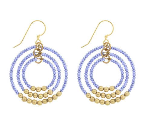 Gyroscope Earrings - Periwinkle