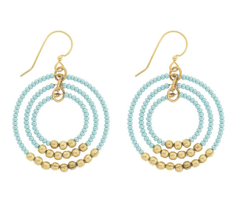 Gyroscope Earrings - Turquoise