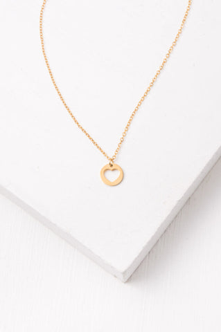 Haley Gold Heart Pendant Necklace
