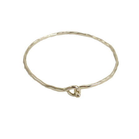Interlocking Ripple Bracelet Silver